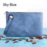 New Fashion Women PU Leather Handbag Clutch Envelope Shoulder Evening Bag Purse