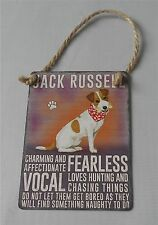 Jack Russell Terrier Dog Charming Fearless Vocal Mini Metal Chic N Shabby Sign
