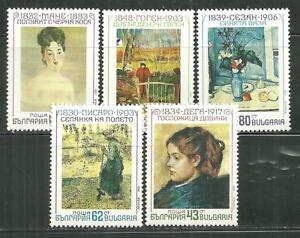 BULGARIA 3603-07 MNH FRENCH IMPRESSIONISTS
