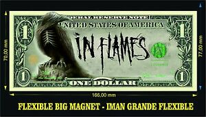 IN FLAMES Sounds of a Playground Fading  IMAN BILLETE 1 DOLLAR BILL MAGNET
