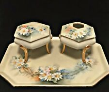 Antique Limoges France Vanity Set with Tray Depose T&V Hand Painted Porcelain