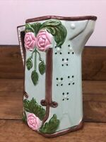 Majolica Pitcher Art Pottery Hand Painted For Seymour Mann