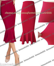 Elegant Womens Tunic Slim Fit Shift Celebrity club party MIDI skirts Dress LARGE