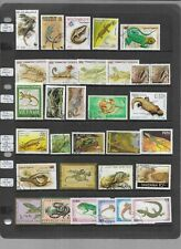 Reptiles & Amphibians on A4 stockcard - Mint & Used