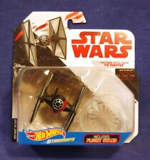 Star Wars Hot Wheels Starships Last Jedi First Order TIE FIGHTER w/ Stand  NEW
