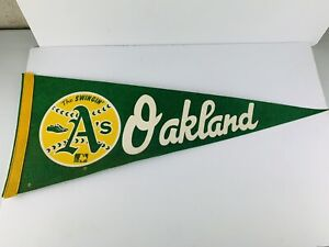 Vintage Oakland A's - The Swinging A's  Vintage Baseball Pennant 70'S OR 80'S