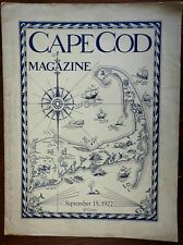 Cape Cod Magazine w/ cartoon map cover 1927 scarce w/ advertising