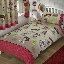 HOWDY COWBOY JUNIOR DUVET COVER SET NEW WILD WEST RED INDIANS