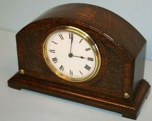 Antique Swiss Made Oak Mantel Clock, BUREN, Key Wind, 8 Day, Very good condition