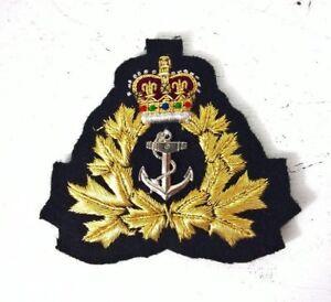 ROYAL CANADIAN NAVY BADGE  (PADDED)