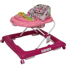 iSafe Playtime Baby Walker Musical Electronic Play Tray Adjustable Height - Pink