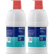 More details for 2 x brita purity c 50 fresh water filter cartridge with active carbon filtration