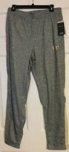 Ga Tech Yellow Jackets Colosseum Gray w/Yellow Sweat Pants Size Large NWT