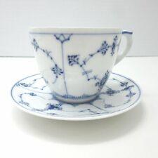 VTG Royal Copenhagen Blue & White Tea Cup + Saucer 125 Denmark