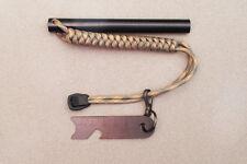Large 5x1/2 inch Ferro Rod /  Fire Starter with Striker / Scraper