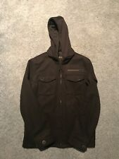 Pea Coat Men's Large Military Style Hooded