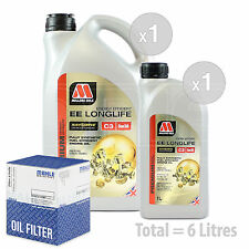Engine Oil and Filter Service Kit 6 LITRES Millers NANODRIVE EE 5w-30 C3 6L