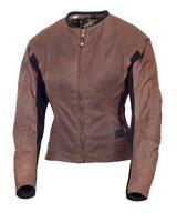 ROLAND SANDS DESIGNS Jett Textile Motorcycle Jacket Latte Brown Women's