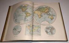 ATLAS MANUEL DE GEOGRAPHIE MODERNE 54 CARTES COULEUR 1883