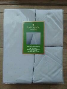 "🌟NEW🌟Kate Spade New York Larabee Dot Tablecloth 60""x102"" & 8 Napkin Set Gray"