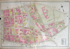 Orig 1911 Worcester, Ma Central Business District, Lunatic Asylum Plat Atlas Map