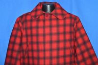 vtg 80s WOOLRICH 504 RED BLACK BUFFALO CHECK PLAID WINTER HUNTING JACKET COAT L