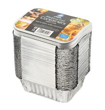 More details for 100 x aluminium foil food containers +lids no.2 home takeaway use chinese indian