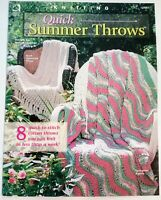 Quick Summer Throws 8 Afghan Designs Knitting Pattern Booklet Melissa Leapman