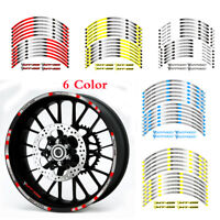 "FIT FOR YAMAHA MT-09 MOTORCYCLE RIM ""17 STRIPES WHEEL DECALS TAPE STICKERS"