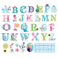 Frozen Elsa Anna Alphabet ABC Letters Wall Stickers Removable Kids Nursery Vinyl