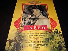 SAPHO  kerwin matthews  affiche cinema  peplum 1960