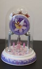 Tinker Bell Glass Dome Sculpted Resin Anniversary Clock Disney Figurine