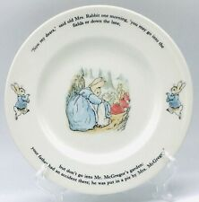 "Wedgwood Peter Rabbit 9 3/4"" Porcelain Plate ""Don't Go Into The Garden."" 1993"