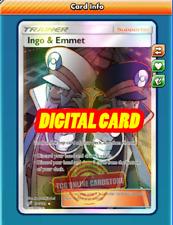 DIGITAL ptcgo in Game Card 2x Ingo /& Emmet for Pokemon TCG Online