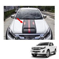 Bonnet Hood Scoop Cover Matte Black Red 1Pc Fit Isuzu D-max Holden Rodeo 16 - 17