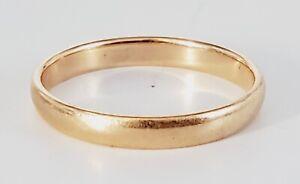 VTG 14K Rose Gold 2.7mm Wedding Band Engagement Ring Size 6.5, 1.8g