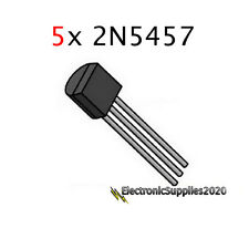 5x 2N5457 5457 JFET N-Channel Transistor, USA Fast Shipping