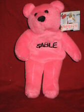 Sable Pink 1999 WWF Attitude 6 inch Bear with numbered tag