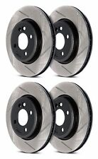 STOPTECH MITSUBISHI EVO 8 9 VIII IX FRONT AND REAR SLOTTED BRAKE ROTORS DISCS