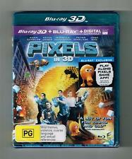 Pixels 3D Blu-ray + Blu-ray + Ultraviolet 2-Disc Set Brand New & Sealed