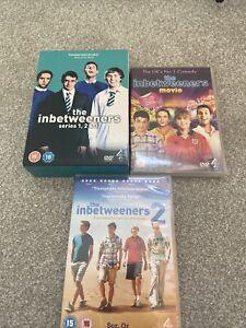 THE INBETWEENERS COMPLETE SERIES 1 - 3 Box Set + 2 X Movies DVD