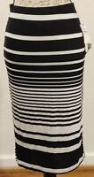 14th Union Nwt Women's Black And White Striped Size M Skirt RN 50665 CA 57963