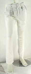 Pantaloni Uomo Jeans ENERGIE B652 Affusolato Bianco Tg 33