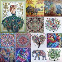 5D DIY Special Shaped Diamond Painting Cross Stitch Kit Mosaic Gift Decor Crafts