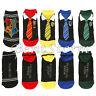 NEW Harry Potter Hogwarts Houses Neck Tie design Ankle No-Show Socks 5 Pair Pack