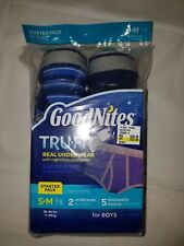 Goodnites TRU-FIT Real Underwear w/ Nighttime Protection BOYS Starter Pack  S/M