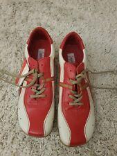 Schuhe 45 Alpha London Rot Weiß