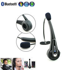 Wireless Bluetooth Headset Boom W/ Mic Truck Driver Handsfree NO Noise!!