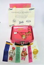 New Fossil 35Th Anni.Barbie Watch & Pin w/ Tin Lunch Box, 20,000 Limited Ed.Nrfb