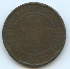 Espagne Isabel II 1/2 Réal 1850 Ségovia KM 591.3